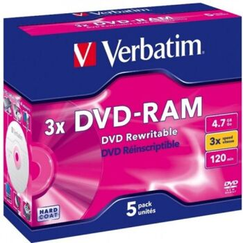 DVD-RAM 4.7GB Verbatim 3x 5er Jewel Case 43450