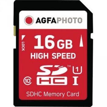 AgfaPhoto Speicherkarte SDHC High Speed Class 10 UHS-1 16GB