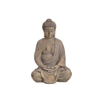 Buddha aus Magnesia Grau (B/H/T) 21x39x20cm
