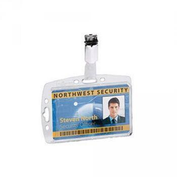 DURABLE Namensschild 800519 85x54mm Kunststoff transparent 25 St./Pack.