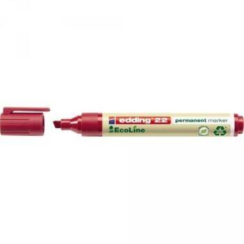 edding Permanentmarker 22 EcoLine 4-22002 1-5mm Keilspitze rot
