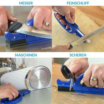 Messerschleifer | Messerschärfer mit ergonomischem Handgriff | Ideal zum Küchenmesser & Keramikmesser schärfen - 1491 Stück