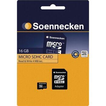 Soennecken Speicherkarte micro SDHC mit Adapter Class 4 16GB