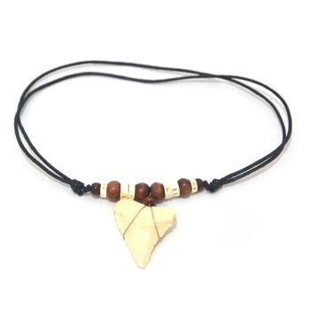 Sonderposten Schmuck aus Bali - Ketten Halskette - Muschel Leder Haifischzahn Holz Kokosnuss - Handarbeit - 3.200 Stück - ab 0,90 EUR/Stück