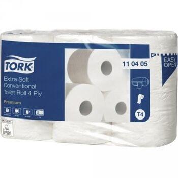 Tork Toilettenpapier Premium 4-lagig 150Blatt weiß 6 Rolle/Pack.