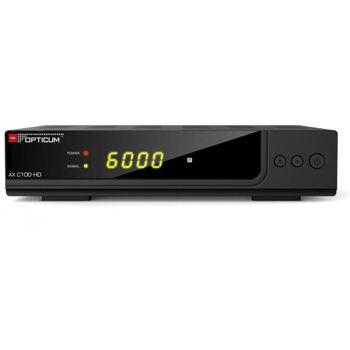 DVB-C Receiver AX C100 HD HDMI, Scart, Coaxial, Display