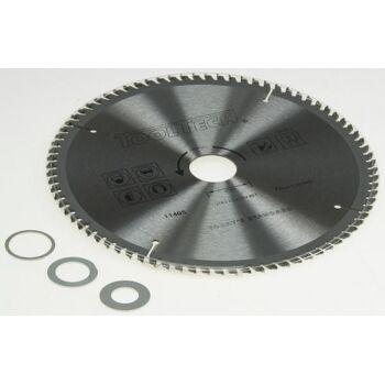 Handkreissägeblatt 210x30mm 3 Reduzierringe, Alu, Kunststoff, NE-Met