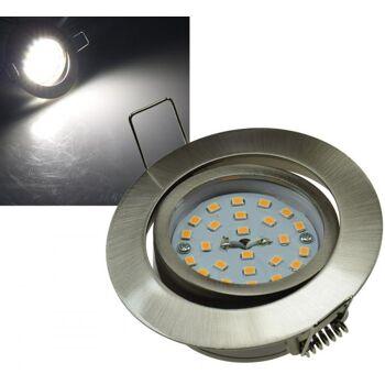 LED-Einbauleuchte Flat-32, neutralweiß 80x32mm, 5W, 490lm, Edelstahl gebürstet