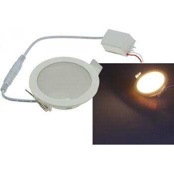 LED Licht-Panel ''CP-90R'', Ø 90mm, IP54 230V, 5W, 400 Lumen, 2900K / warmweiß