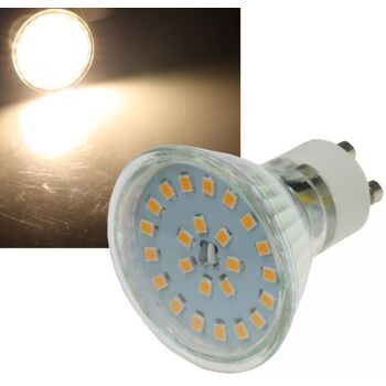 LED Strahler GU10 ''H55 SMD'' 120°, 3000k, 400lm, 230V/5W, warmweiß