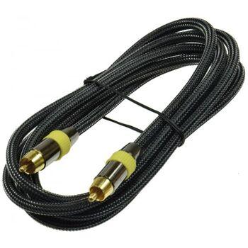 Premium Cinch Kabel 2m für Subwoofer und Koaxial Digital Audio
