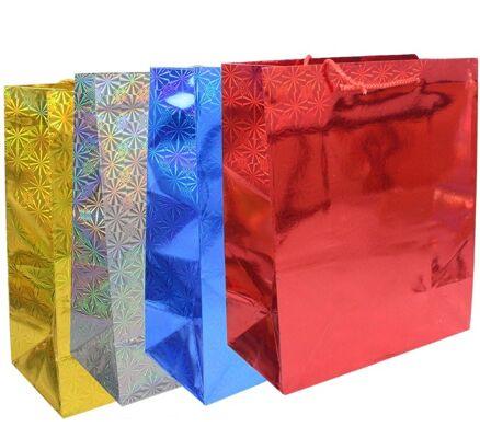 27-42231, Glitzertragetasche 30 x 26 cm, Geschenktasche, Glitzertragetüte, Geschenktüte, Geschenkbeutel