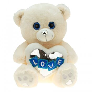 10-138130, Plüsch Bär 45 cm, mit LOVE Herz
