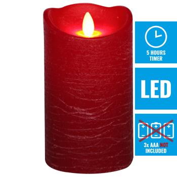 Grosse Kerzenaktion - jetzt wird aufgeräumt - LED Echtwachskerzen 15 cm rot - 992 Stück