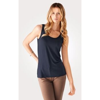 Sleeveless Jersey Vest Top in a versatile cut