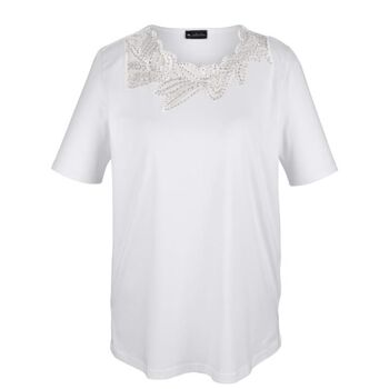 Shirt mit dekorativem Netzeinsatz