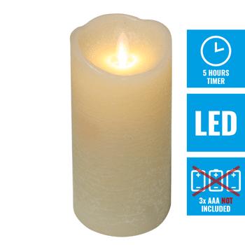 Grosse Kerzenaktion - jetzt wird aufgeräumt - LED Echtwachskerzen 15 cm - creme