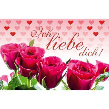 12-181017, Valentinstagkarte Ich liebe Dich, Exclusiv Karte, Geschenkkarte