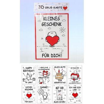 12-50108024, 3D Grußkarte