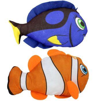 06-5804, Plüsch Tropenfisch, 16-18 cm, Clownfisch, Papageifisch