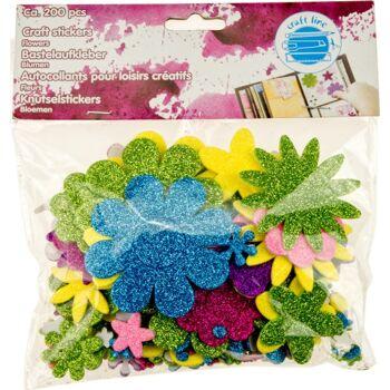 28-063959, Bastelzubehör Blume 200er Pack,  zum Kleben