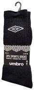 Original UMBRO Sportsocken aus Baumwolle in schwarz