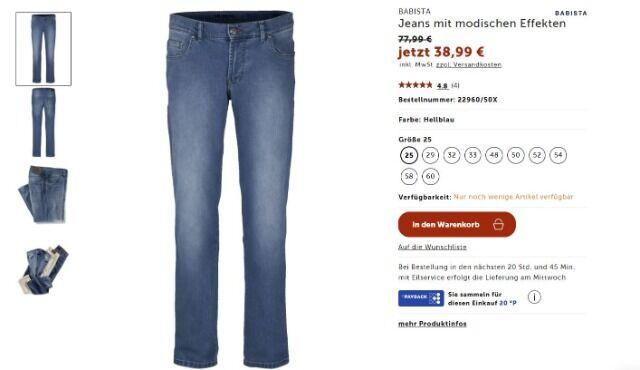 Jeans mit modischen Effekten