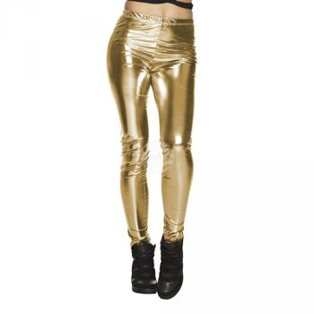 Legging halbtransparent gold (M stretch)