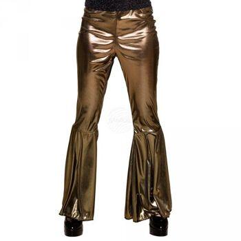 Schlaghosen gold (M stretch)