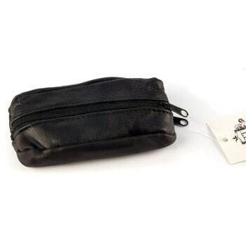 12-70584, Leder Schlüsseletui mit Reißverschluss