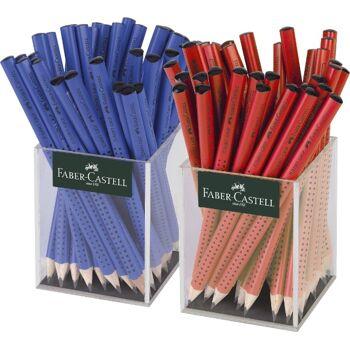 12-111970, FABER CASTELL Bleistift Jumbo türkis, lila und rot, Jumbobleistift Grip