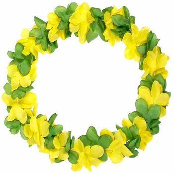 Brasilien Blumenkette WM EM Hawaikette Gruen Gelb