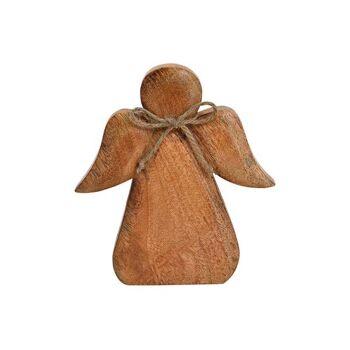 Engel aus Mango Holz Braun (B/H/T) 18x20x3cm