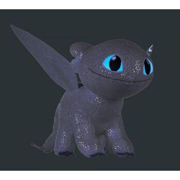 Drachenzähmen leicht gemacht - Plüschfigur, Light Fury 32cm - Glow in the Dark