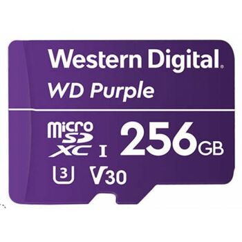 WD MicroSDXC Class10 Purple 256GB Surveillance UHS 1 WDD256G1P0A