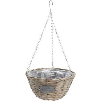 28-576828, Hängeampel rund, Durchmesser 30 cm, Höhe 16 cm, Blumenampel