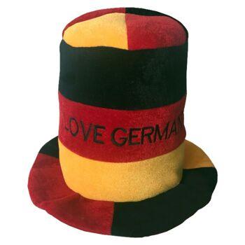 Deutschland Zylinder EM WM Fußball Handball Fan Hut schwarz rot gold