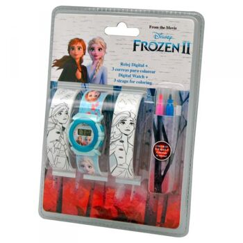 Disney Frozen 2 / Die Eiskönigin 2 - Armbanduhr & Schnapparmbänder
