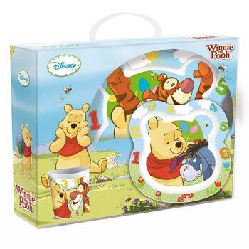 Disney Winnie Puuh - 3-teiliges Melamin Set in Geschenkpackung