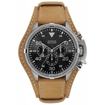Guess Uhr Uhren Herrenuhr Chronograph W0480G4 Rover Leder hellbraun