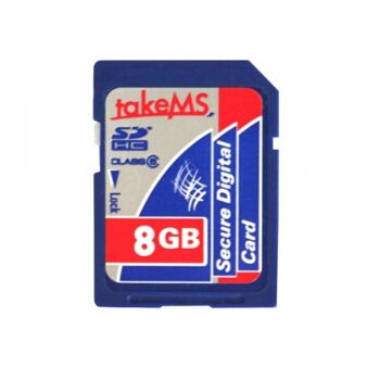 takeMS SD Card 8GB SDHC (Class 6) Retail MS8192SDC-HC6R