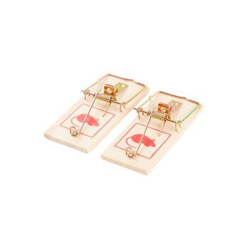 28-669713, Holz Mausefalle 2er Pack