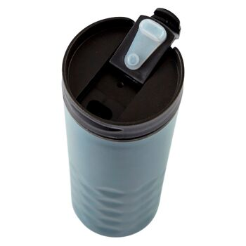 28-752644, Isoliertrinkbecher Edelstahl, 0,5 Liter Isolierbecher mit Deckel, mit verschließbarer Trinköffnung