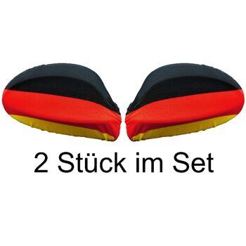 Deutschland Autospiegelbezug WM EM Autofahne 2 Stück im Set