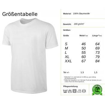 Deutschland T-Shirt Fußball Fan Shirt Weiss S-XXL