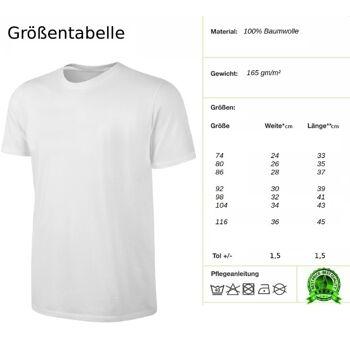 Deutschland T-Shirt Kinder Fußball Fan Shirt Weiss Gr. 74 -116