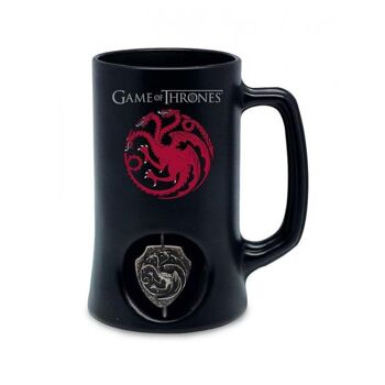 Game of Thrones -Targaryen - Bierkrug mit 3D-Emblem