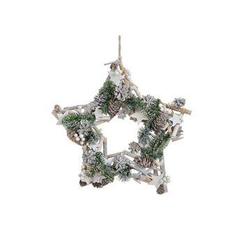 Weihnachtsstern Tannen zum Hängen aus Holz/Kunststoff, 43 cm Ø