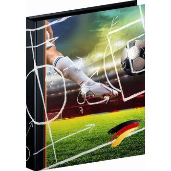 12-106558038, Ringbuch A4 2Ring Fußball  von Brunnen, Aktenordner