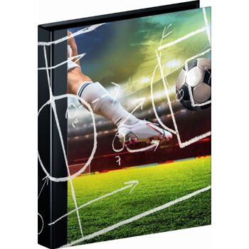 12-1065583381, Ringbuch A4 4 Ring Fußball International  von Brunnen, Aktenordner